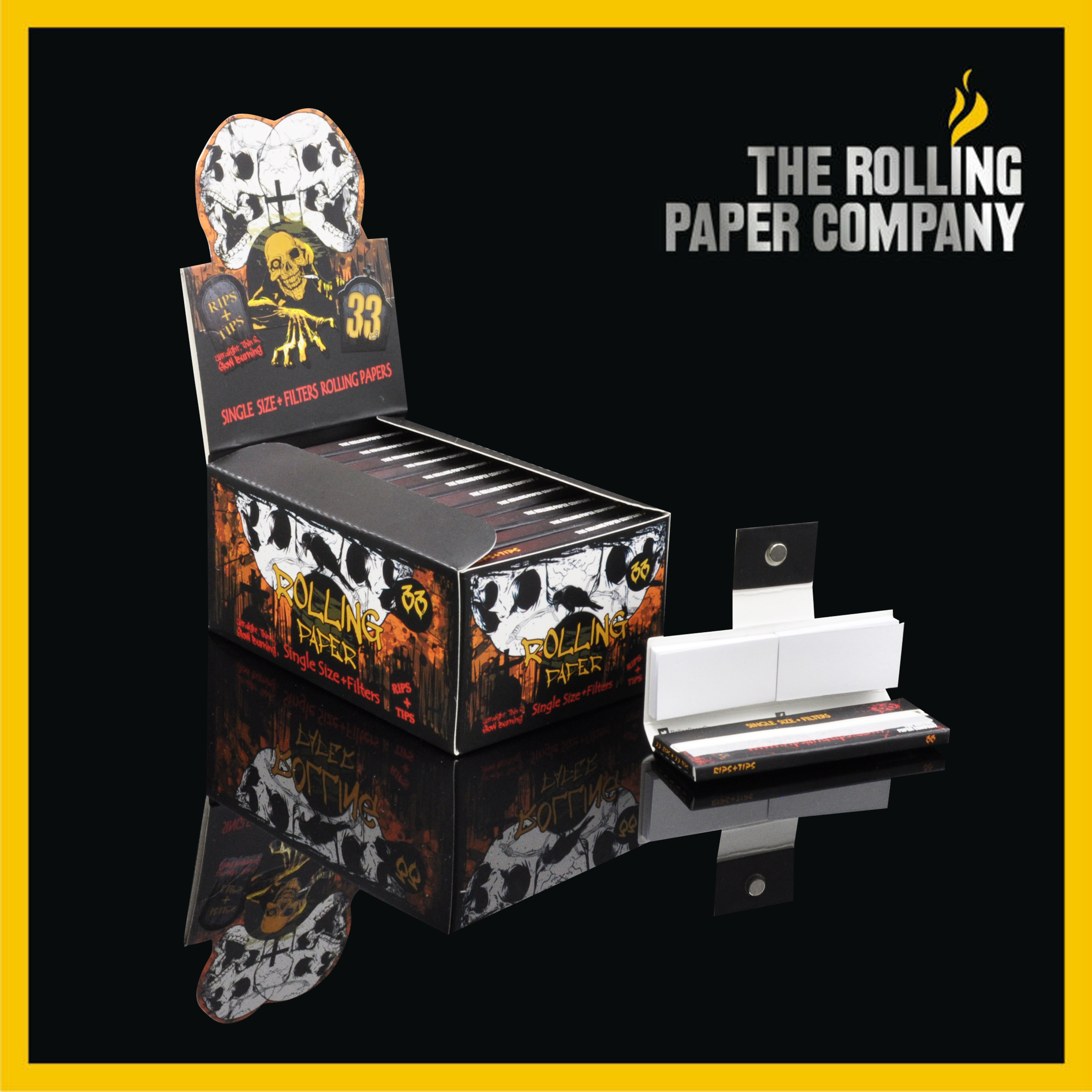 Rolling Papers With Filter Tips (Button Magnet)